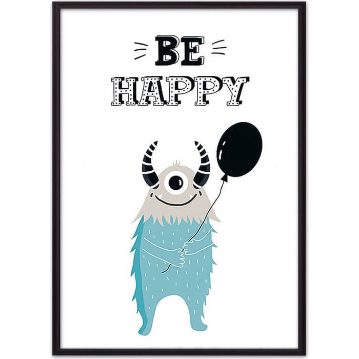 Постер в рамке Дом Корлеоне Монстр Be happy 30x40 см