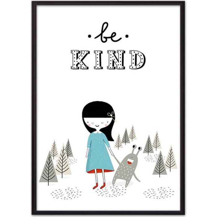 Постер в рамке Дом Корлеоне Монстр Be kind 50x70 см