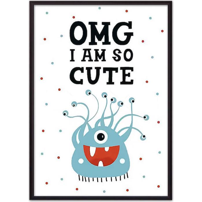 Постер в рамке Дом Корлеоне Монстр Cute 50x70 см