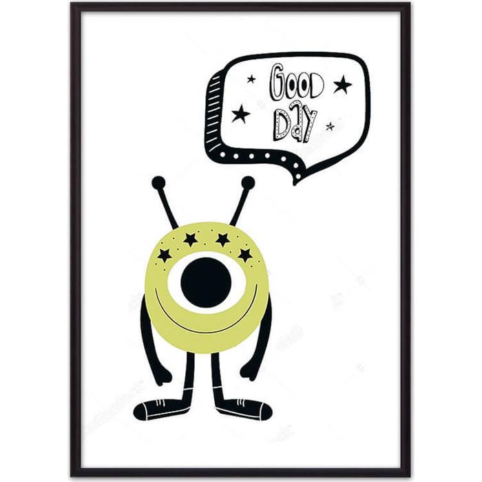 Постер в рамке Дом Корлеоне Монстр Good day 50x70 см