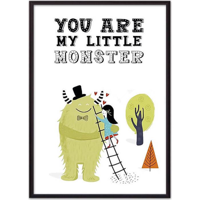Постер в рамке Дом Корлеоне Монстр Little monster 50x70 см