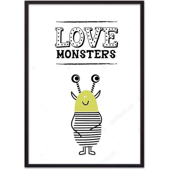 Постер в рамке Дом Корлеоне Монстр Love monsters 40x60 см