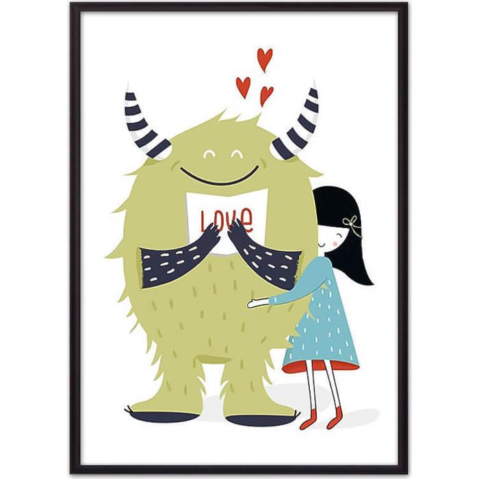Постер в рамке Дом Корлеоне Монстр Love 40x60 см