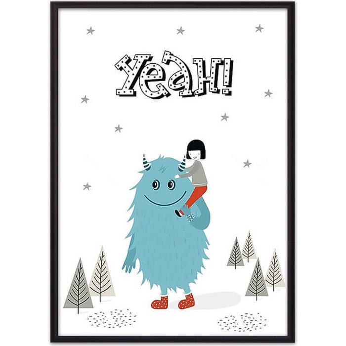 Постер в рамке Дом Корлеоне Монстр Yeah 50x70 см