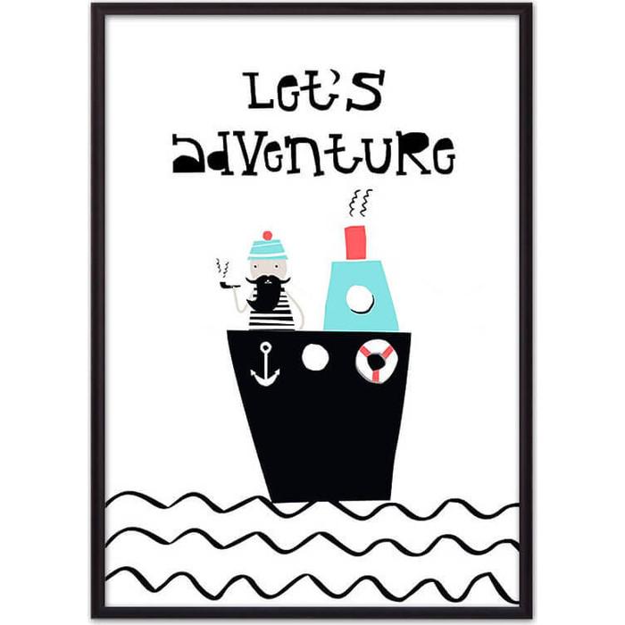 Постер в рамке Дом Корлеоне Мореплаватель 40x60 см