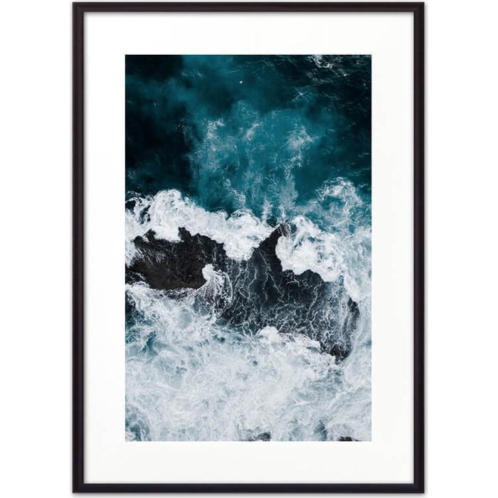 Постер в рамке Дом Корлеоне Морские волны 30x40 см