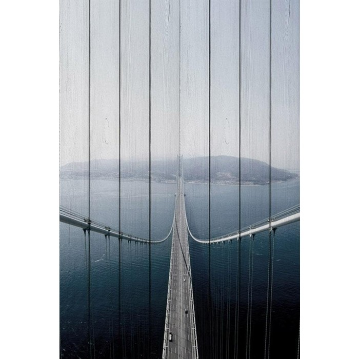 Картина на дереве Дом Корлеоне Мост Акаси-Кайке 60x90 см