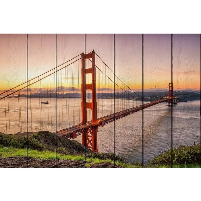 Картина на дереве Дом Корлеоне Мост Золотые ворота 60x90 см