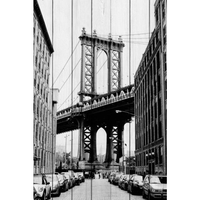 Картина на дереве Дом Корлеоне Мост Манхэттен 100x150 см
