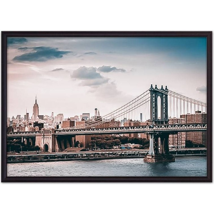 Постер в рамке Дом Корлеоне Мост Манхэттена 50x70 см