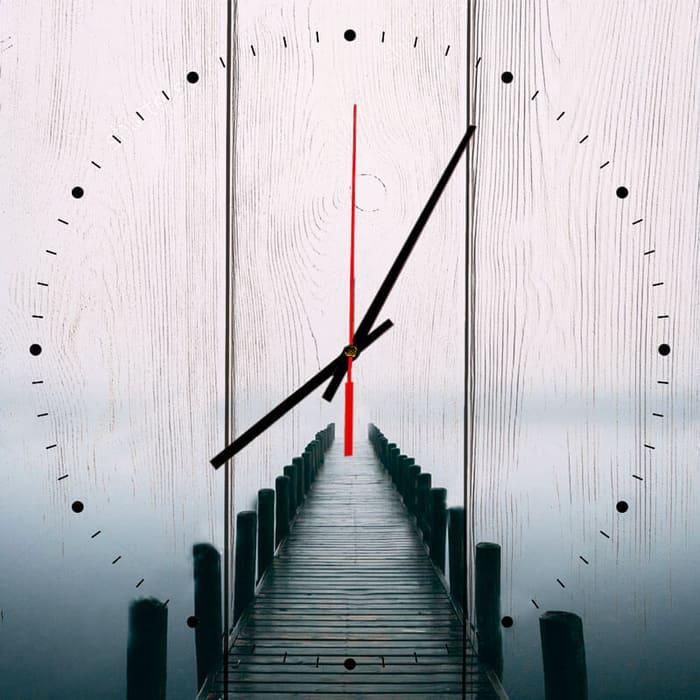 Настенные часы Дом Корлеоне Мостик в тумане 50x50 см