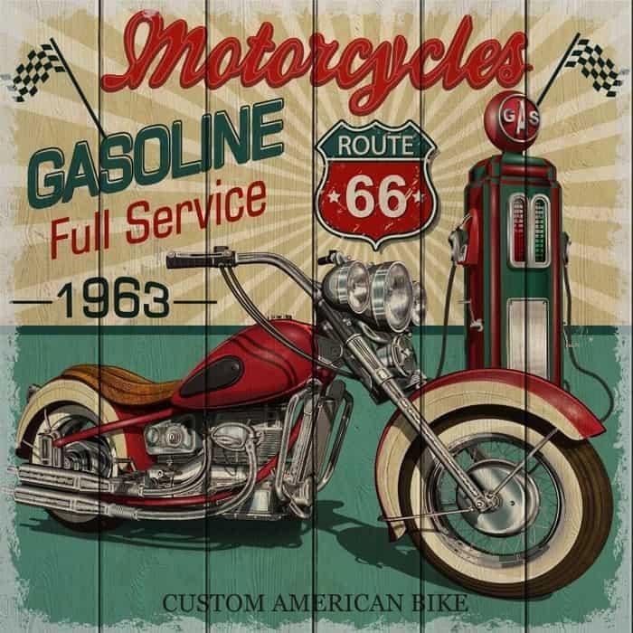 Картина на дереве Дом Корлеоне Мотоцикл 1963 150x150 см