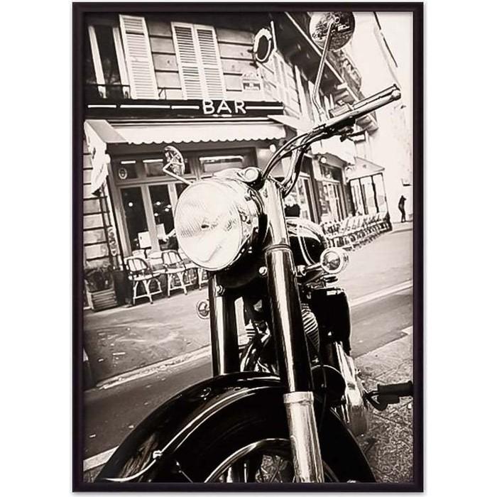 Постер в рамке Дом Корлеоне Мотоцикл винтаж 50x70 см