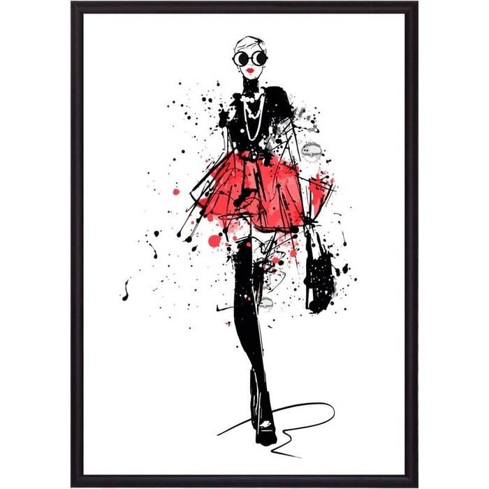 Постер в рамке Дом Корлеоне Набросок Показ мод 2 50x70 см