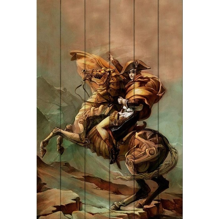 Картина на дереве Дом Корлеоне Наполеон Стимпанк 80x120 см картина на дереве дом корлеоне хамелеон 80x120 см