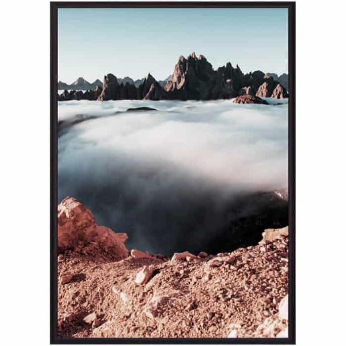 Постер в рамке Дом Корлеоне Небесный водопад 50x70 см