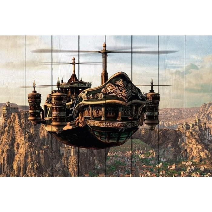 Картина на дереве Дом Корлеоне Небесный патруль 60x90 см