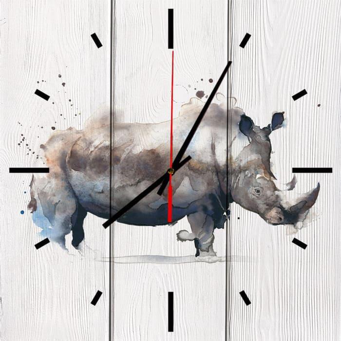 Настенные часы Дом Корлеоне Носорог 60x60 см