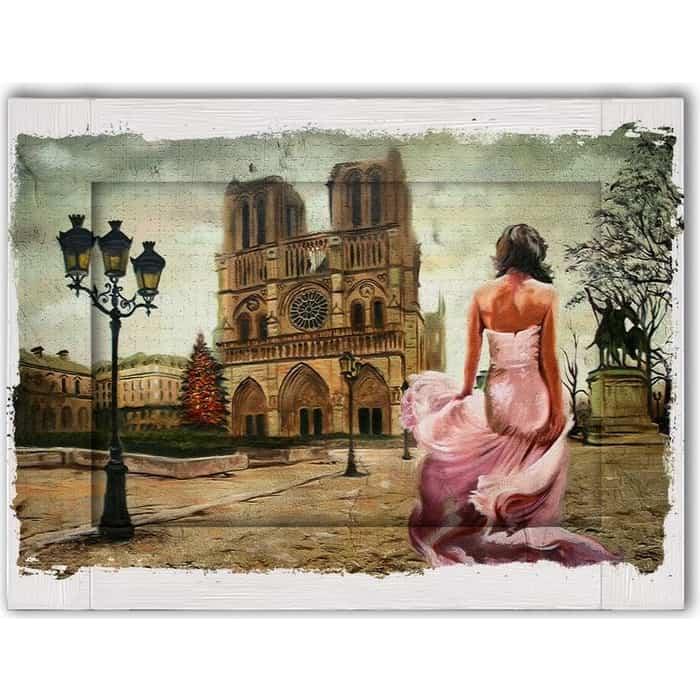 Картина с арт рамой Дом Корлеоне Нотр дам 70x90 см
