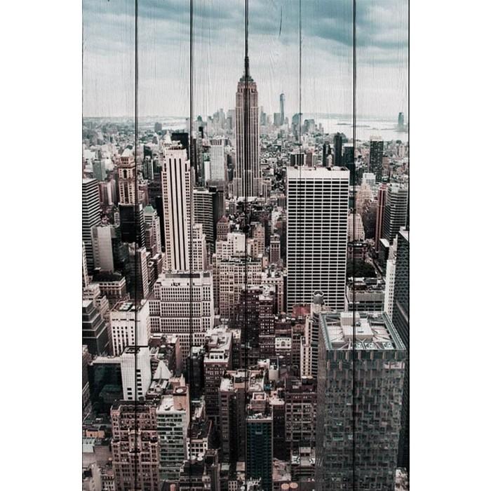 Картина на дереве Дом Корлеоне Нью Йорк 60x90 см
