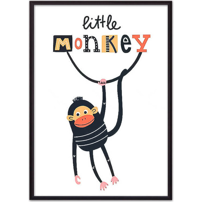 Постер в рамке Дом Корлеоне Обезьяна Little monkey 30x40 см