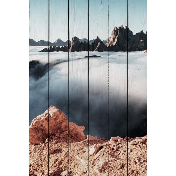 Картина на дереве Дом Корлеоне Облака 80x120 см