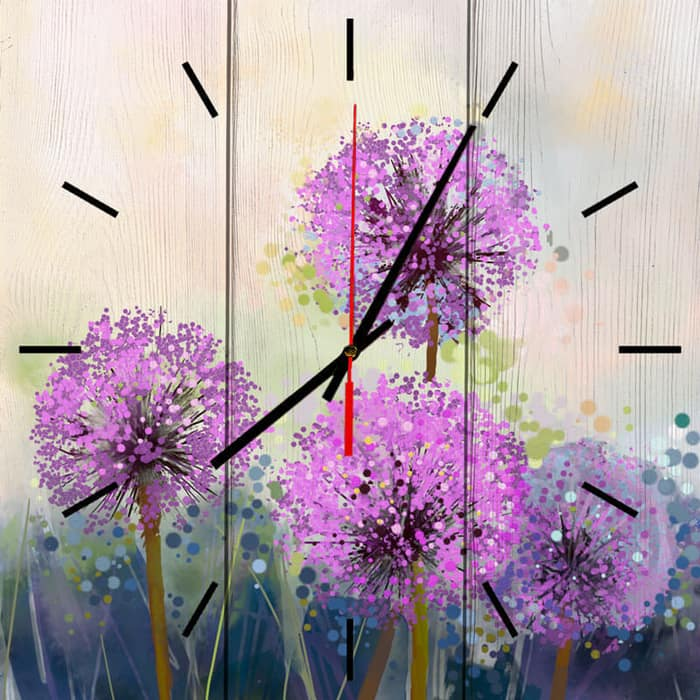 Настенные часы Дом Корлеоне Одуванчики Акварель 50x50 см