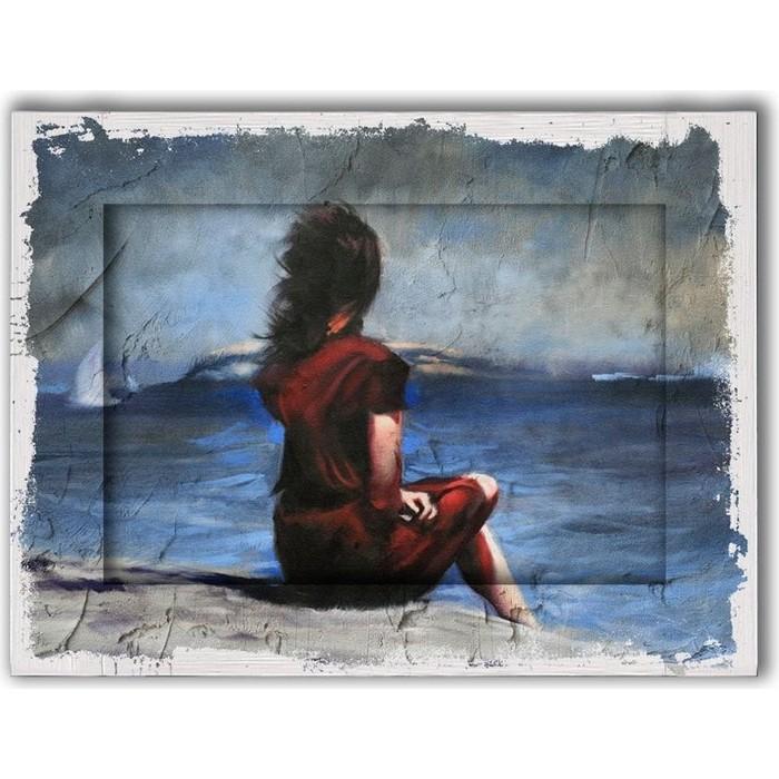 Картина с арт рамой Дом Корлеоне Ожидание 80x100 см картина с арт рамой дом корлеоне прогулка 80x100 см