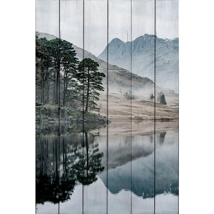 цена Картина на дереве Дом Корлеоне Озеро 80x120 см онлайн в 2017 году