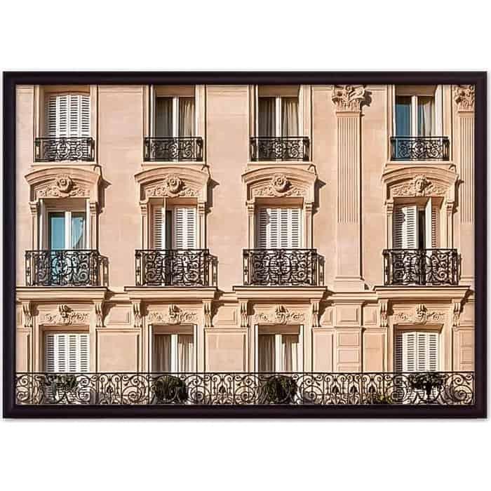 Постер в рамке Дом Корлеоне Окна Парижа 50x70 см