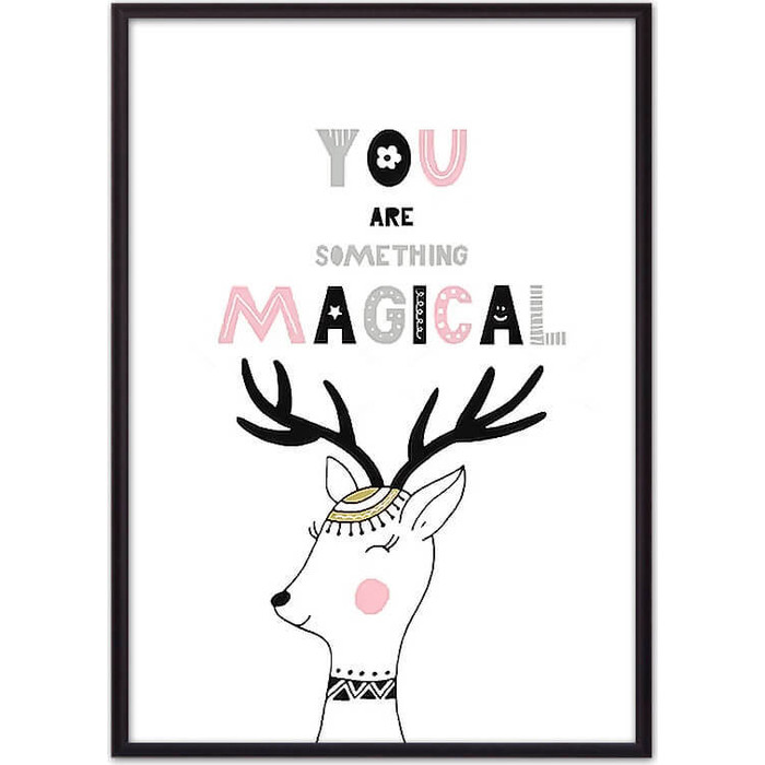 Постер в рамке Дом Корлеоне Олень Magical 50x70 см
