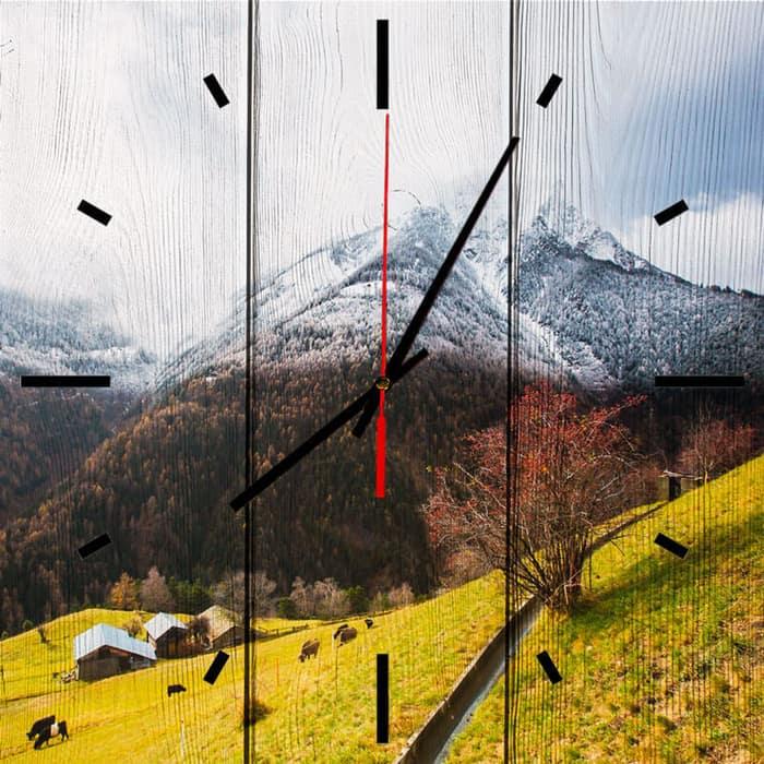 Настенные часы Дом Корлеоне Осень в Альпах 60x60 см настенные часы дом корлеоне лодочники в венеции 60x60 см