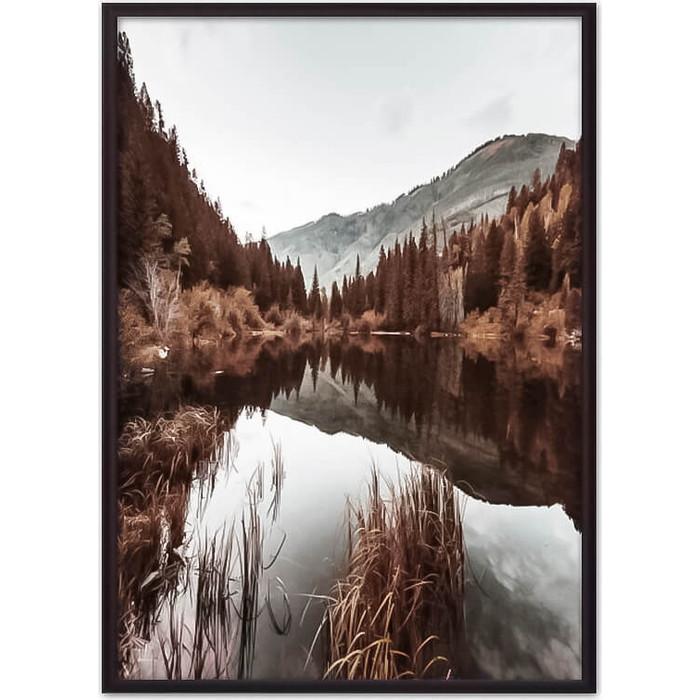 Постер в рамке Дом Корлеоне Осень горах 40x60 см