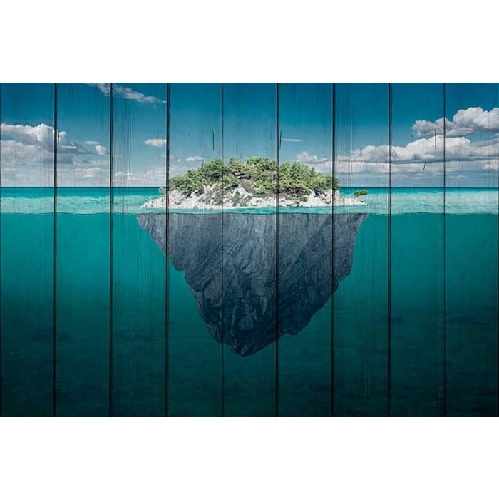 Картина на дереве Дом Корлеоне Остров 100x150 см