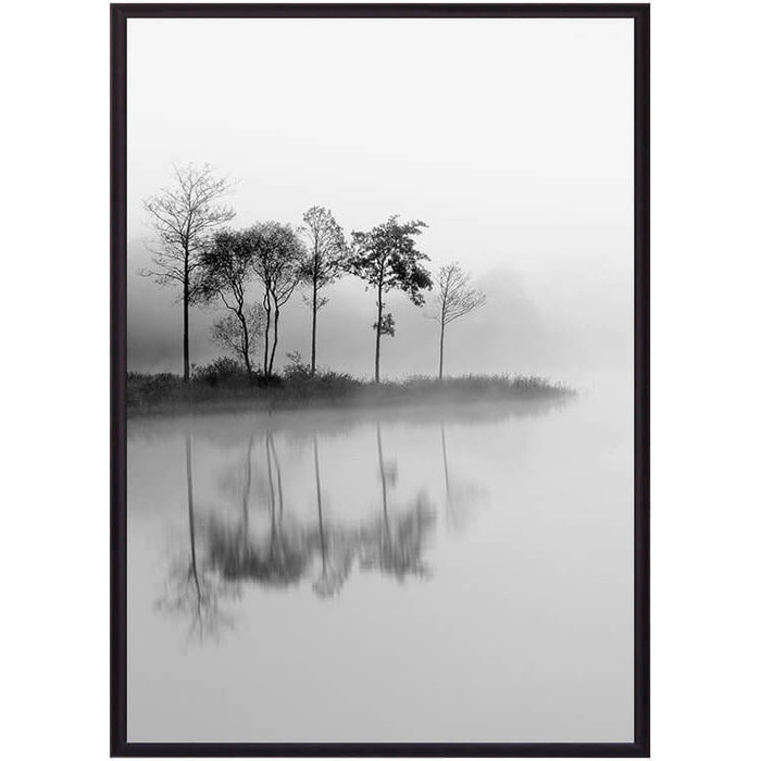 Постер в рамке Дом Корлеоне Остров на озере 40x60 см