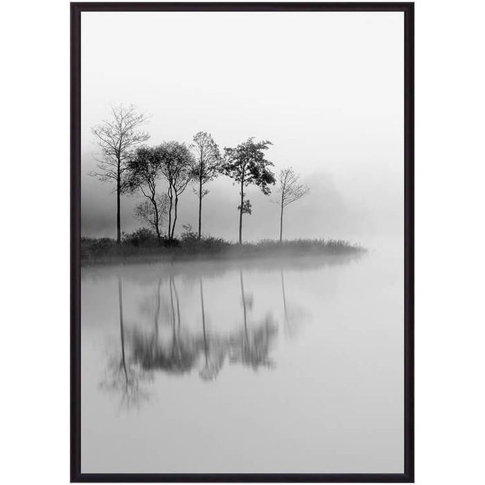 Постер в рамке Дом Корлеоне Остров на озере 50x70 см