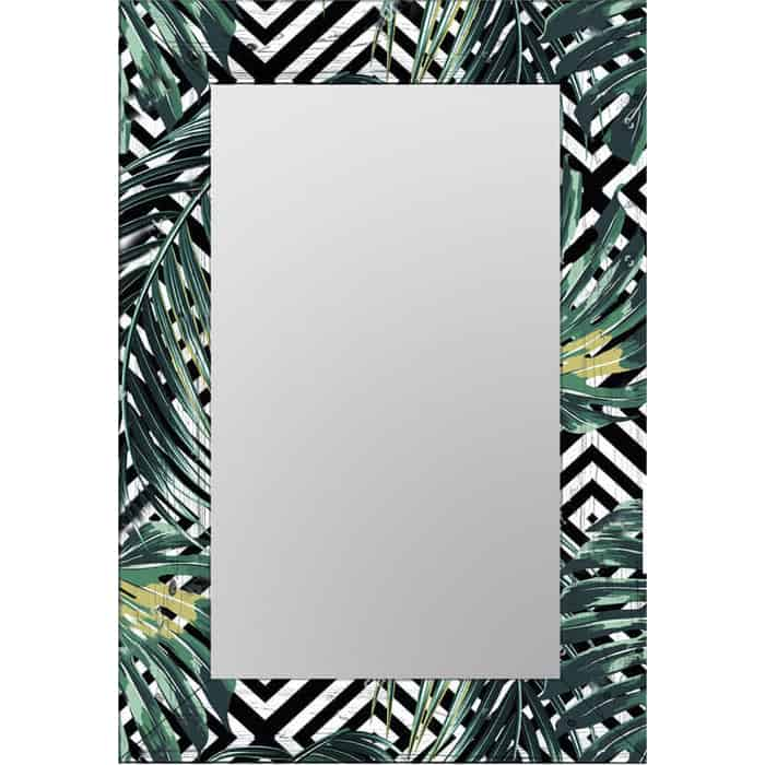 Настенное зеркало Дом Корлеоне Пальмовые листья 80x80 см