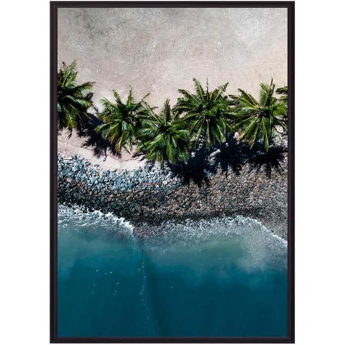 Постер в рамке Дом Корлеоне Пальмы на пляже 21x30 см