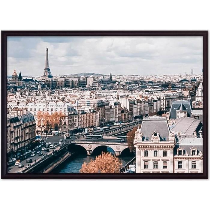 Постер в рамке Дом Корлеоне Панорама Парижа 40x60 см