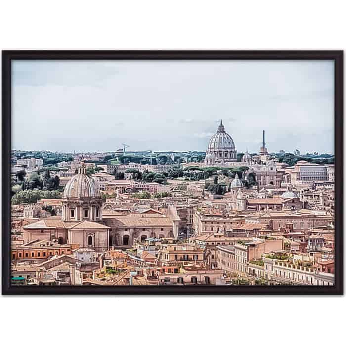 Постер в рамке Дом Корлеоне Панорама Рима 50x70 см