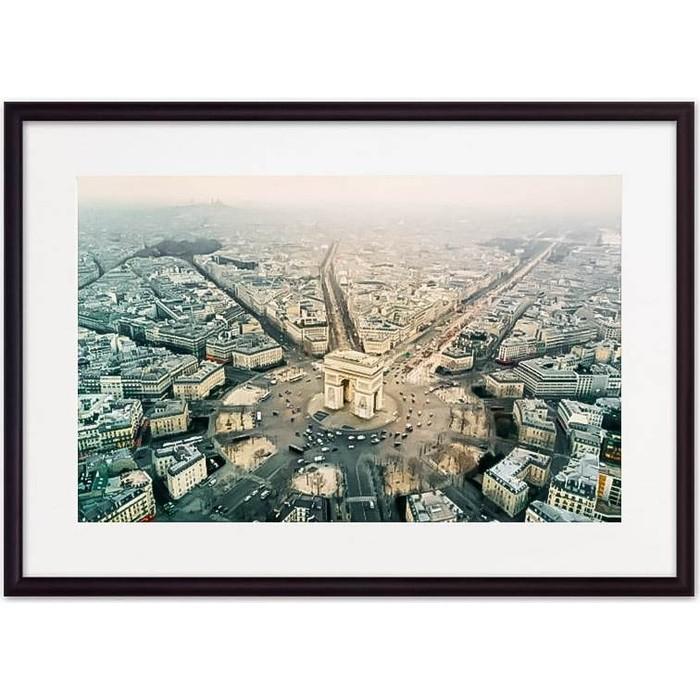 Фото - Постер в рамке Дом Корлеоне Париж с высоты 40x60 см постер в рамке дом корлеоне гаргулья париж 40x60 см