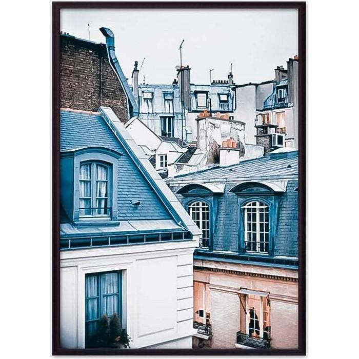 Постер в рамке Дом Корлеоне Парижские крыши 50x70 см