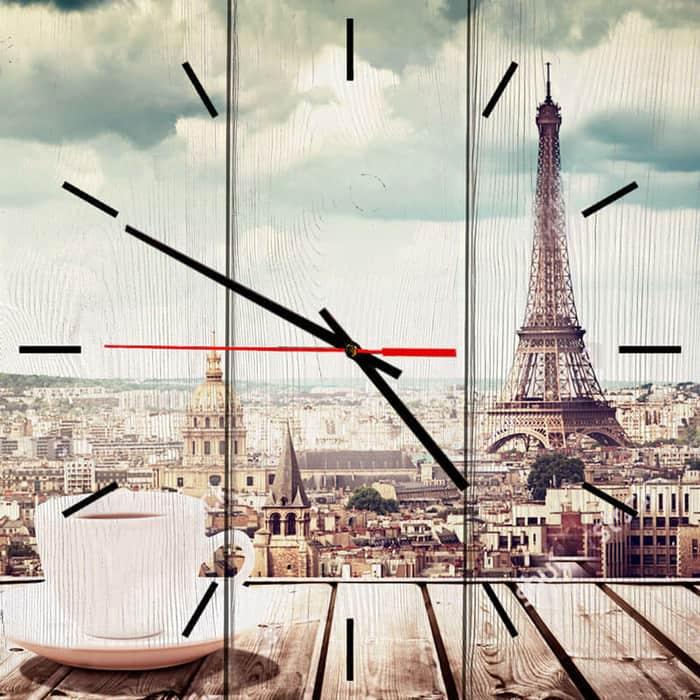 Настенные часы Дом Корлеоне Парижское утро 30x30 см