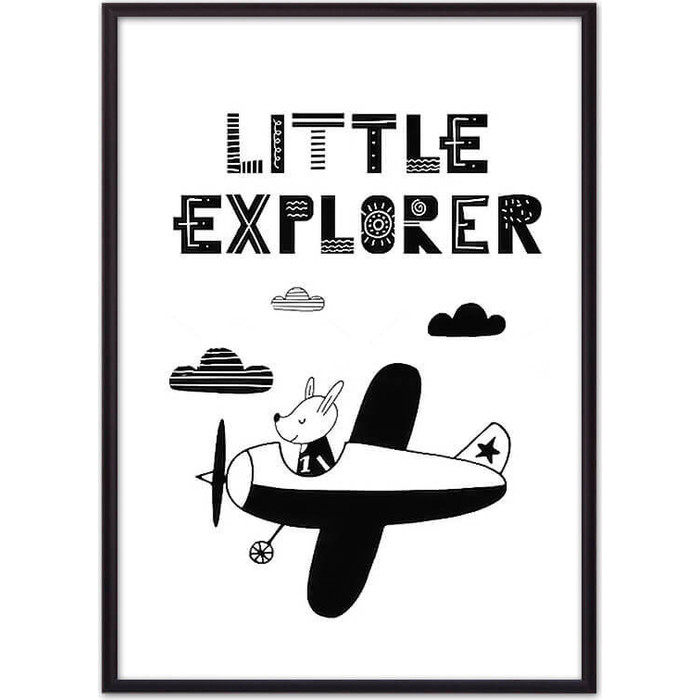 Постер в рамке Дом Корлеоне Пес Little explorer 30x40 см
