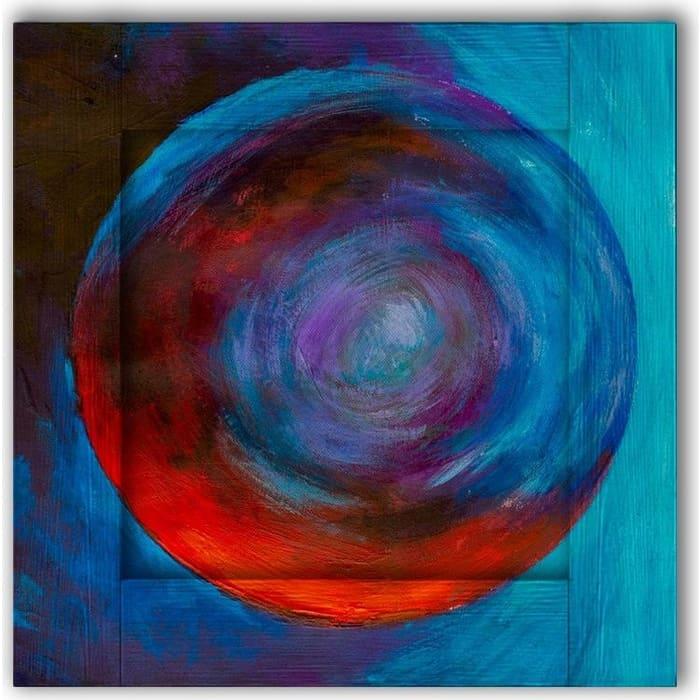 Картина с арт рамой Дом Корлеоне Планета 55x55 см настенное зеркало дом корлеоне зеленая долина 55x55 см