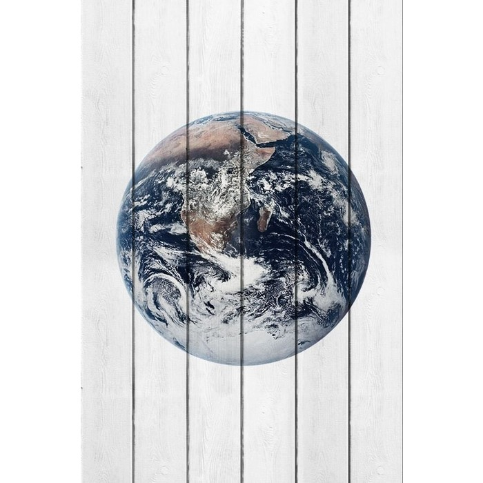 Картина на дереве Дом Корлеоне Планета Земля 60x90 см
