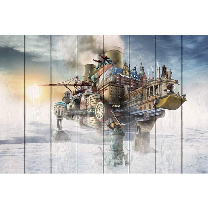 Картина на дереве Дом Корлеоне Покорение Арктики 60x90 см