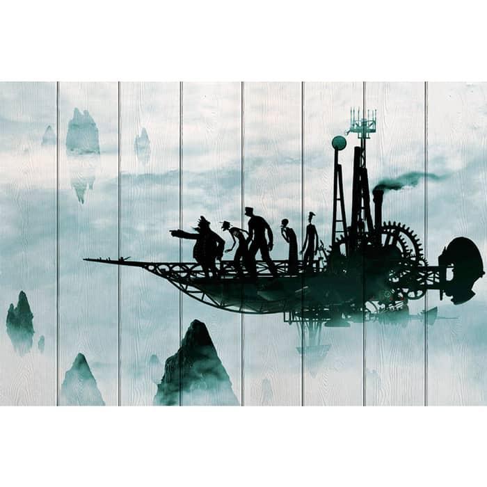 Картина на дереве Дом Корлеоне Полет вокруг земли 100x150 см