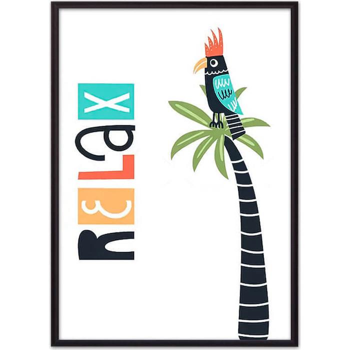 Постер в рамке Дом Корлеоне Попугай Relax 30x40 см