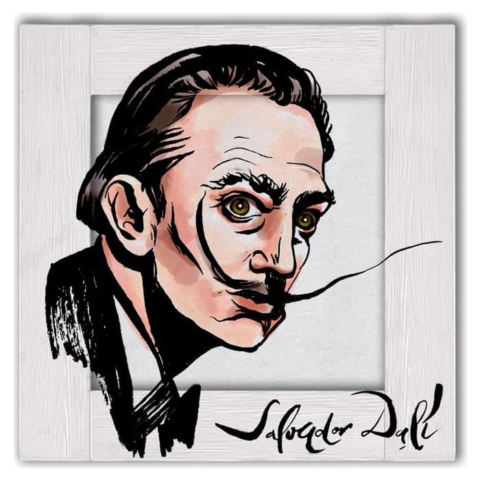 Картина с арт рамой Дом Корлеоне Портрет Сальвадора Дали 80x80 см
